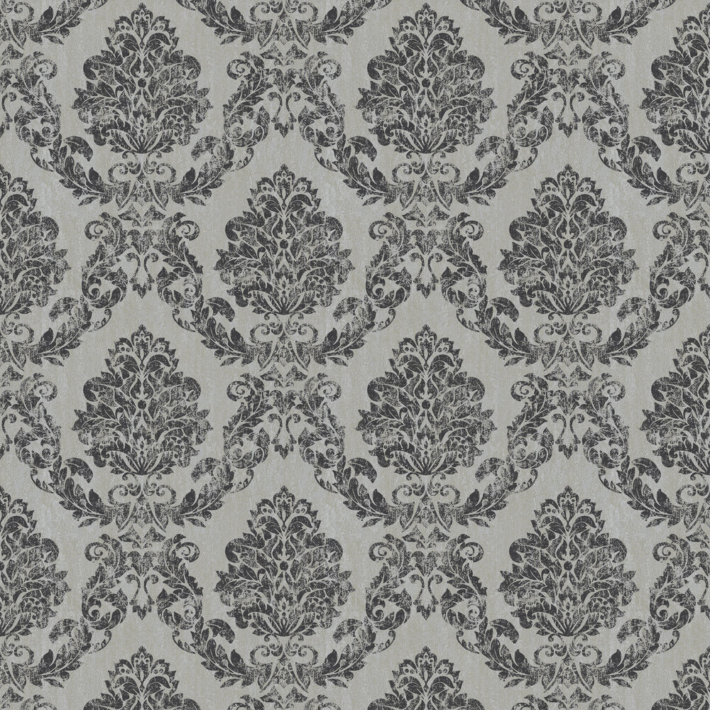 Giorgio Wallpaper - Charcoal Silver - by Albany