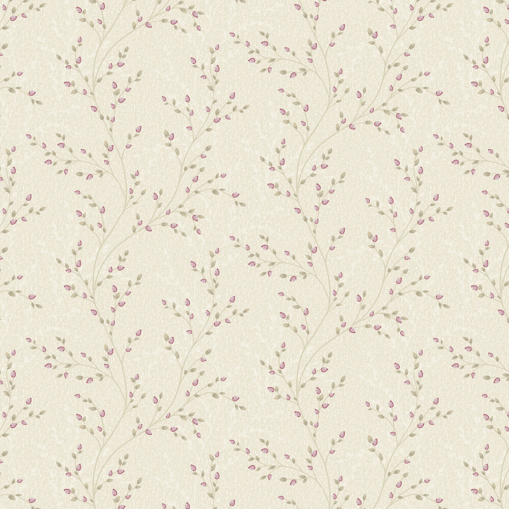 Amelio Wallpaper - Red and Beige - by Albany