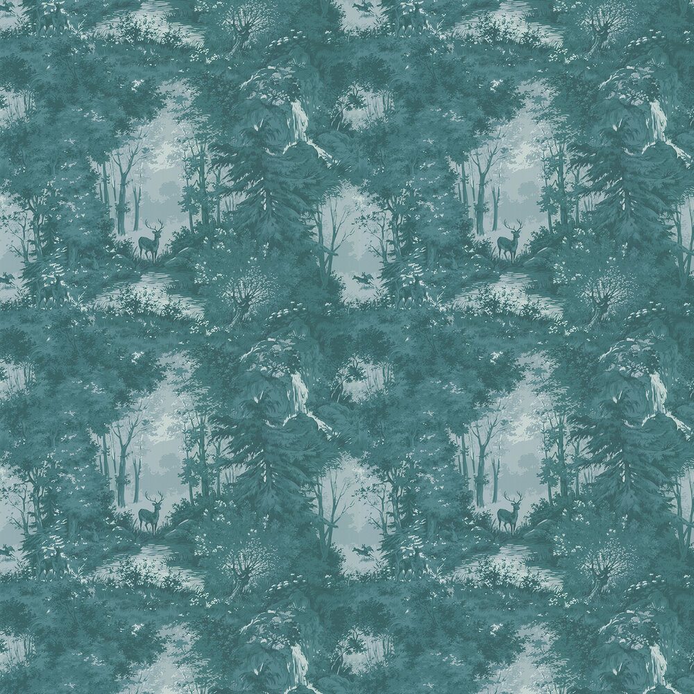 Mulberry Home Torridon Teal Wallpaper - Product code: FG076R11