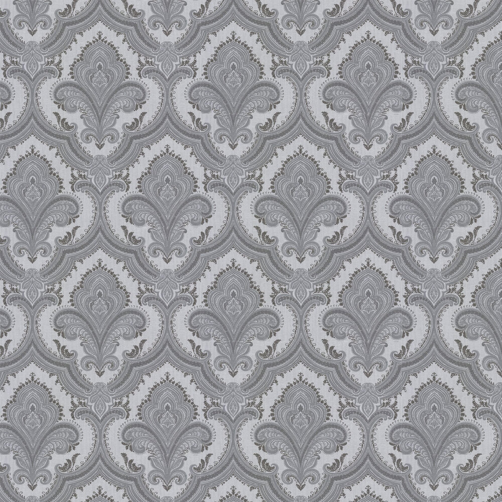 Sassari Damask Wallpaper - Silver Grey - by Albany