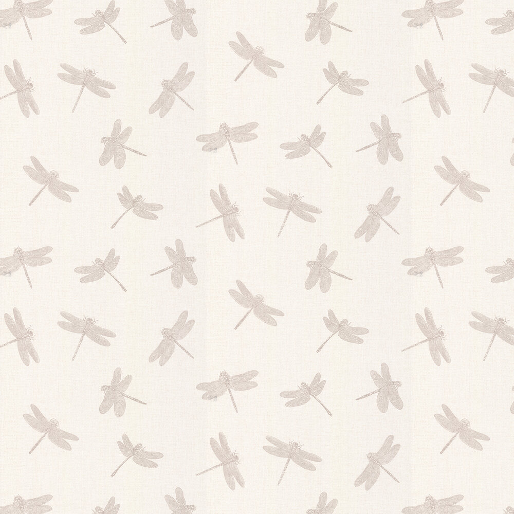 Dragonfly Wallpaper - Taupe / Cream - by Albany