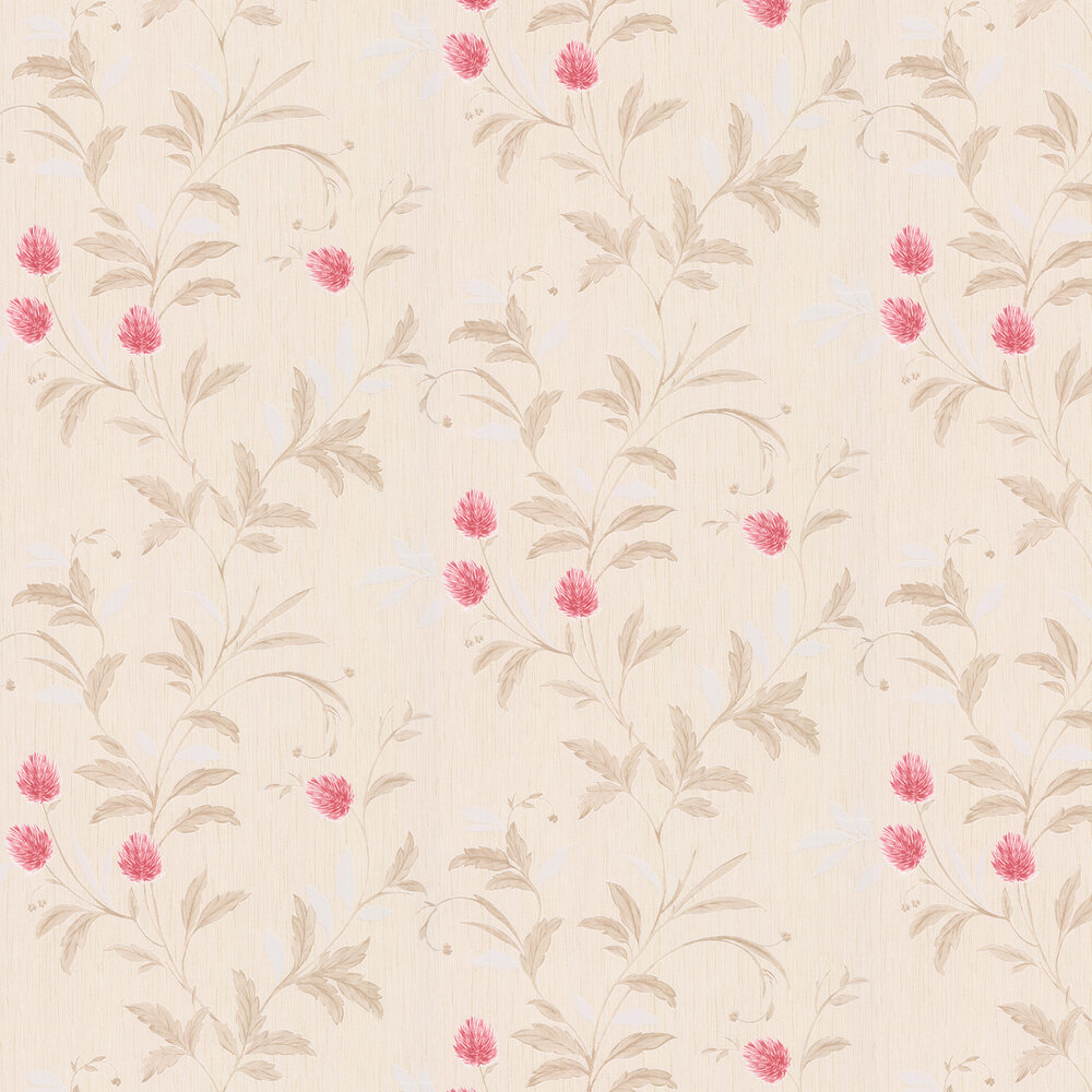 Clover Wallpaper - Red - by Albany