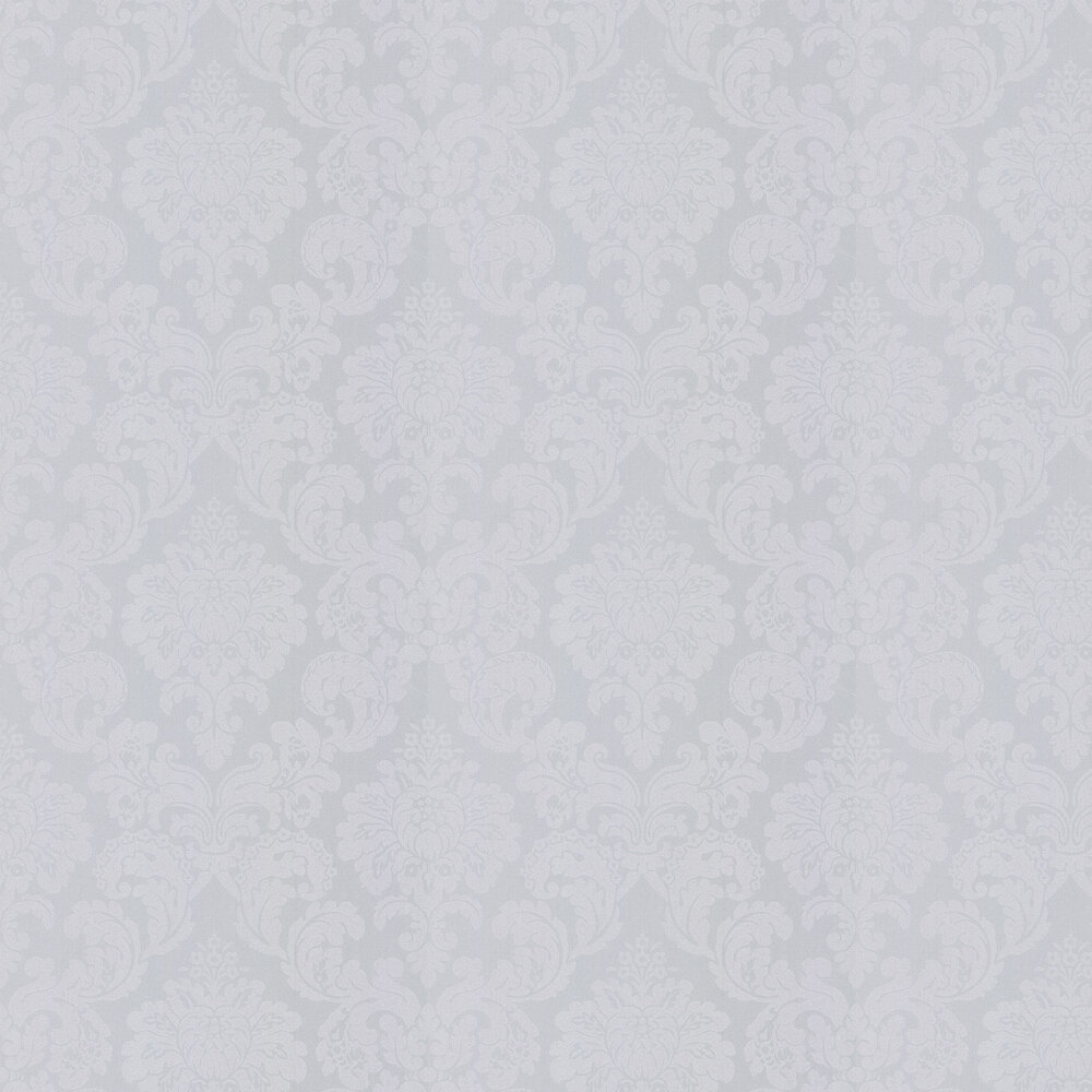 Monaco Damask Wallpaper - Silver Grey - by Albany