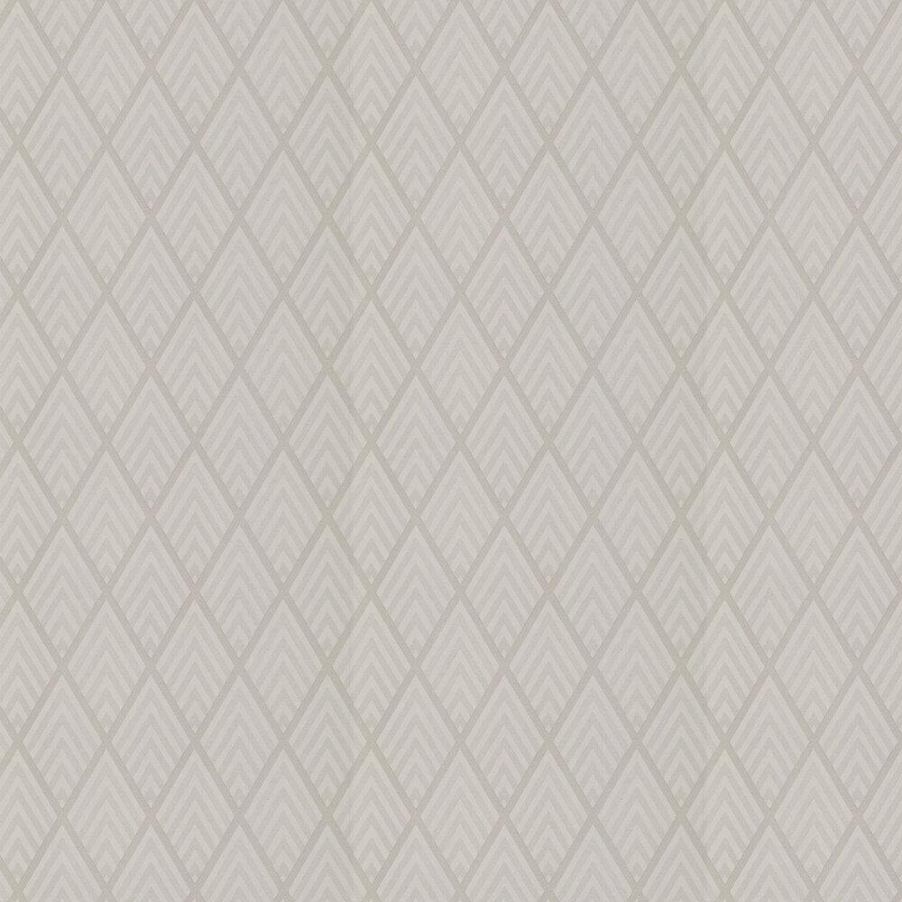 Jazz Age Geometric Wallpaper - Pearl Grey - by Ralph Lauren