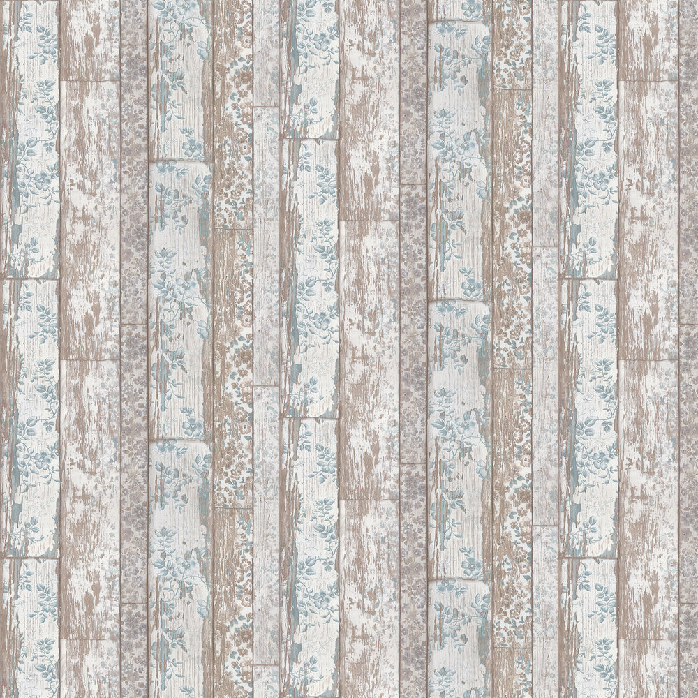 Floral Panel Wallpaper - Blue - by Albany