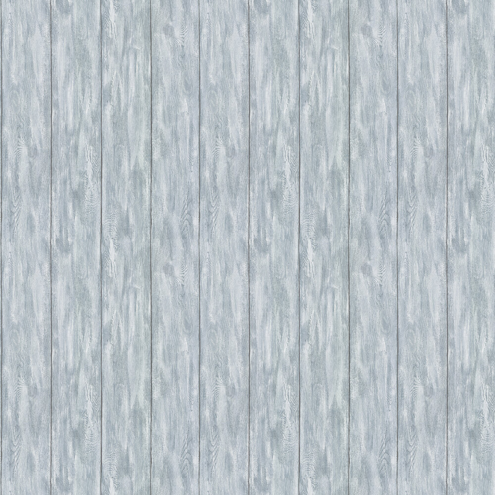 Albany Wood Panel Blue Wallpaper - Product code: 36152-3
