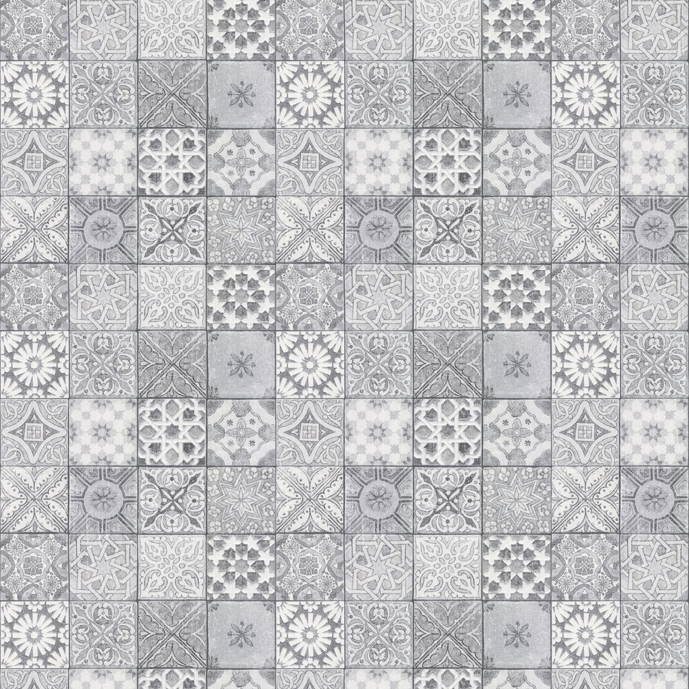 Bude Tile Wallpaper - Grey - by Albany