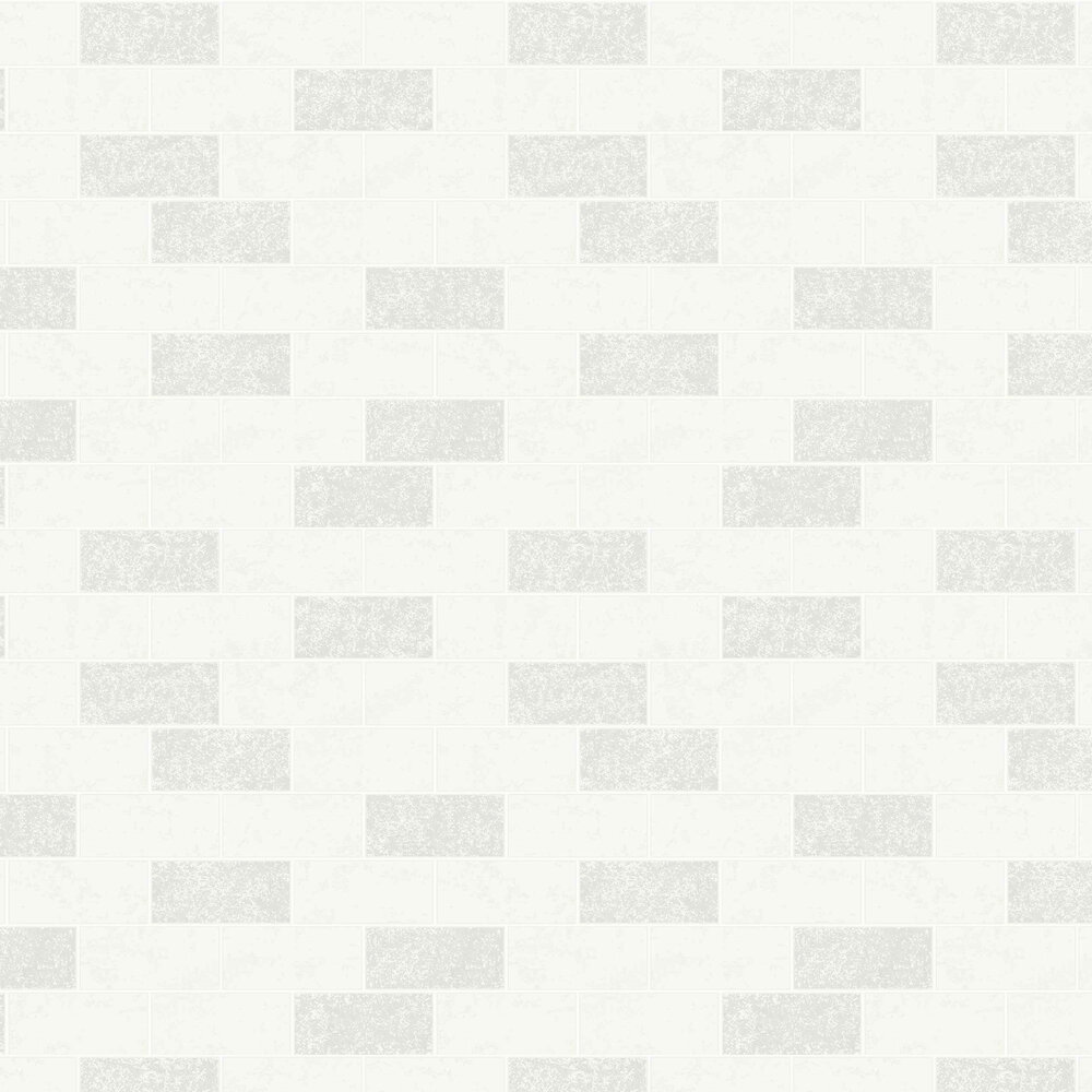 Subway Tile Wallpaper - White - by Albany