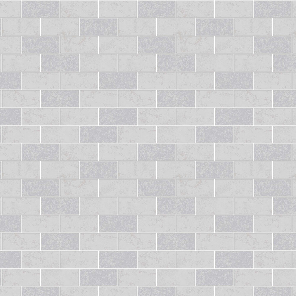 Subway Tile Wallpaper - Grey - by Albany