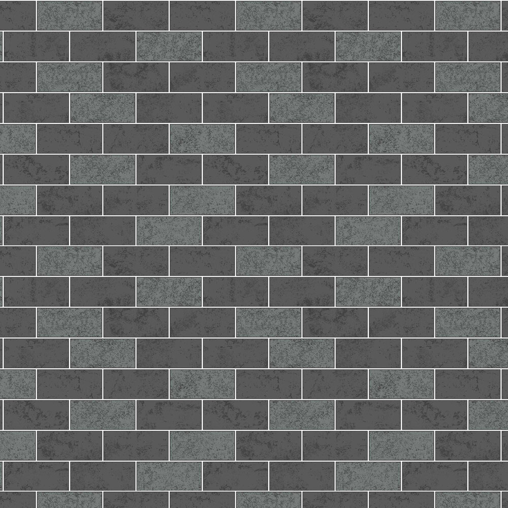 Subway Tile Wallpaper - Charcoal - by Albany