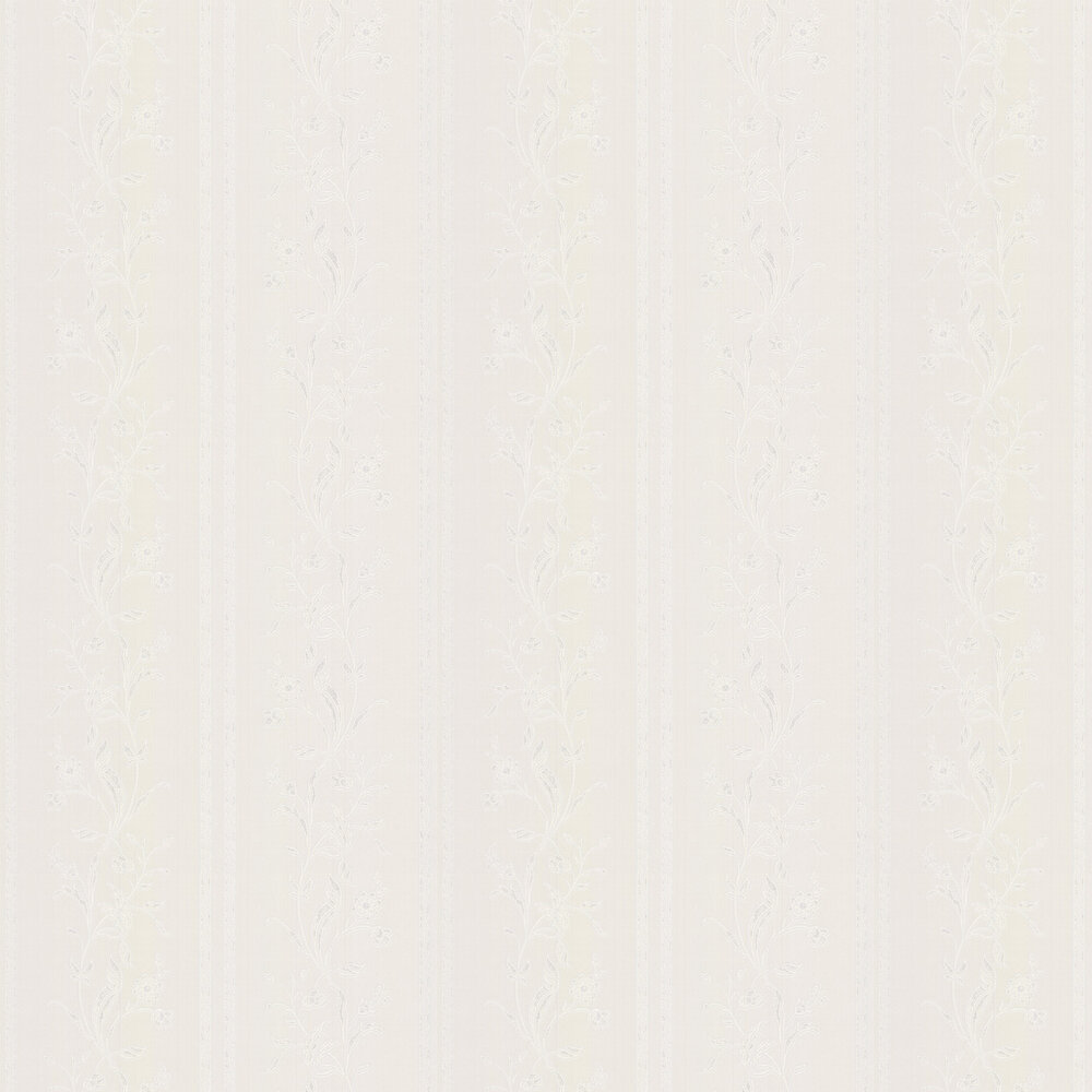 Milano Stripe Wallpaper - Opal White - by Albany