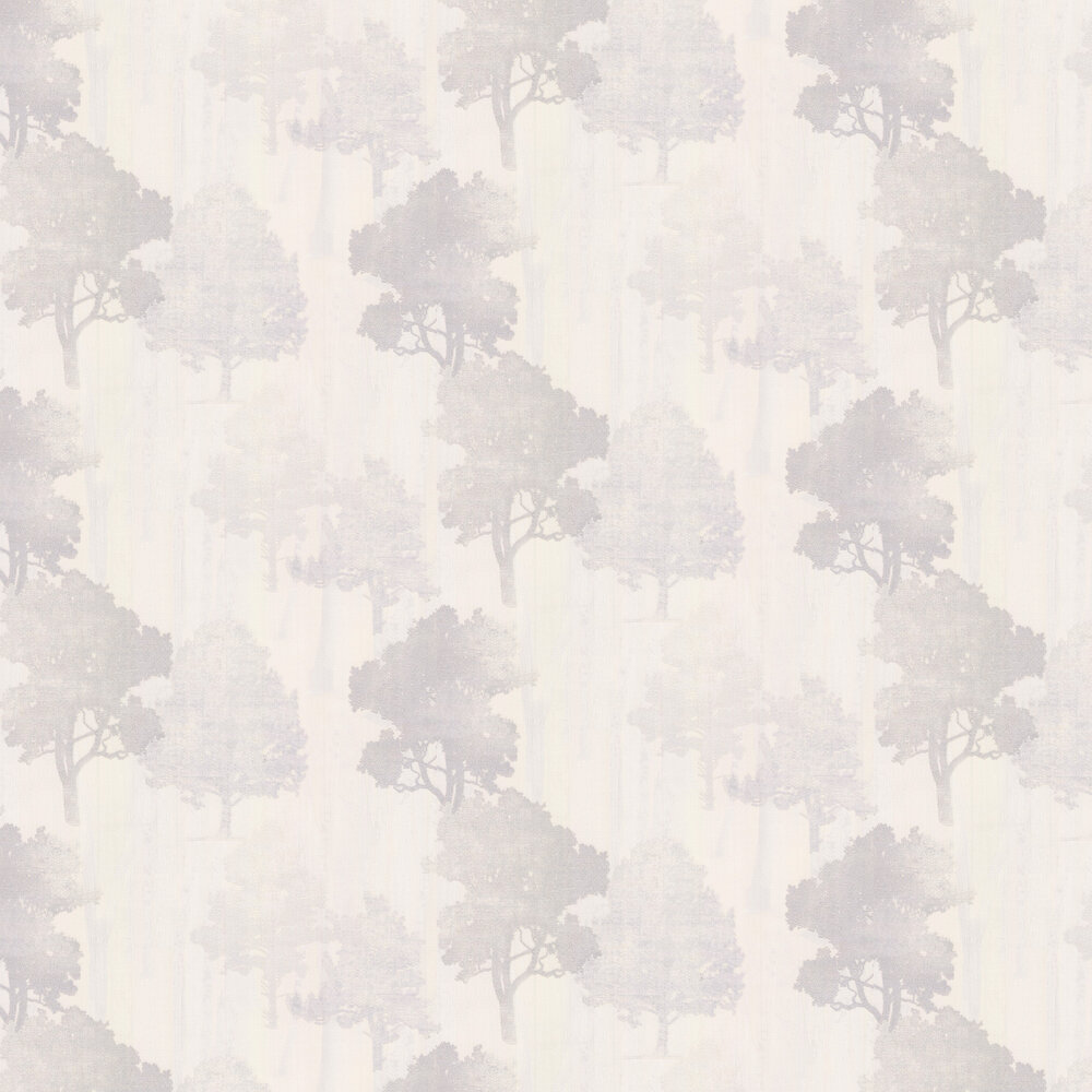 Milano Forest Wallpaper - Opal / Grey - by Albany
