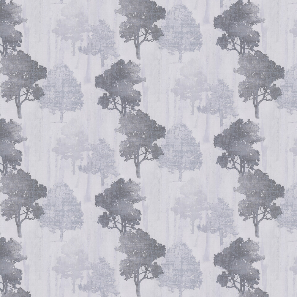 Milano Forest Wallpaper - Silver Grey - by Albany