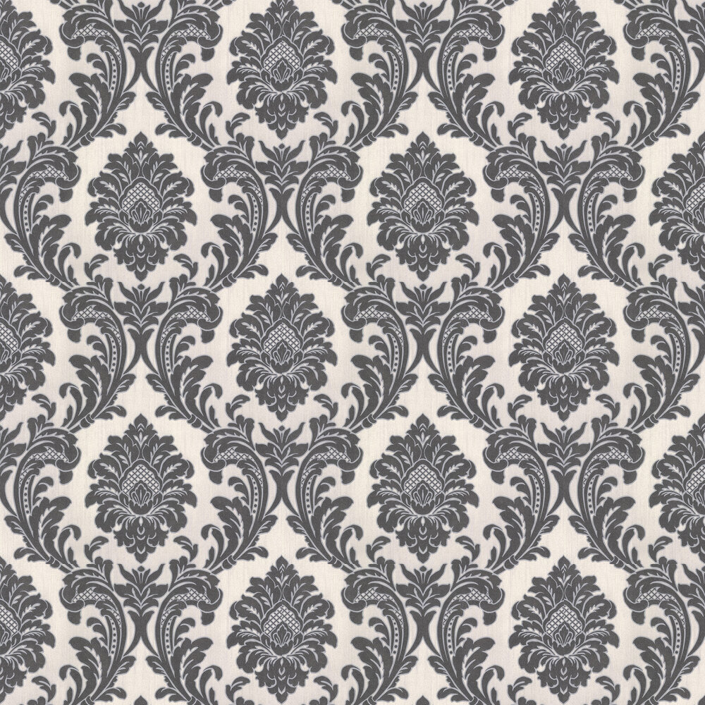 Milano Damask Wallpaper - Charcoal - by Albany