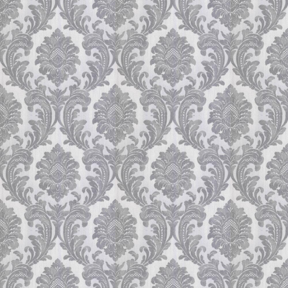 Milano Damask Wallpaper - Grey - by Albany