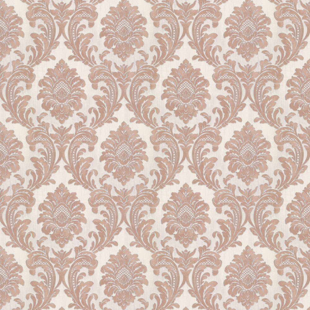 Milano Damask Wallpaper - Terracotta - by Albany