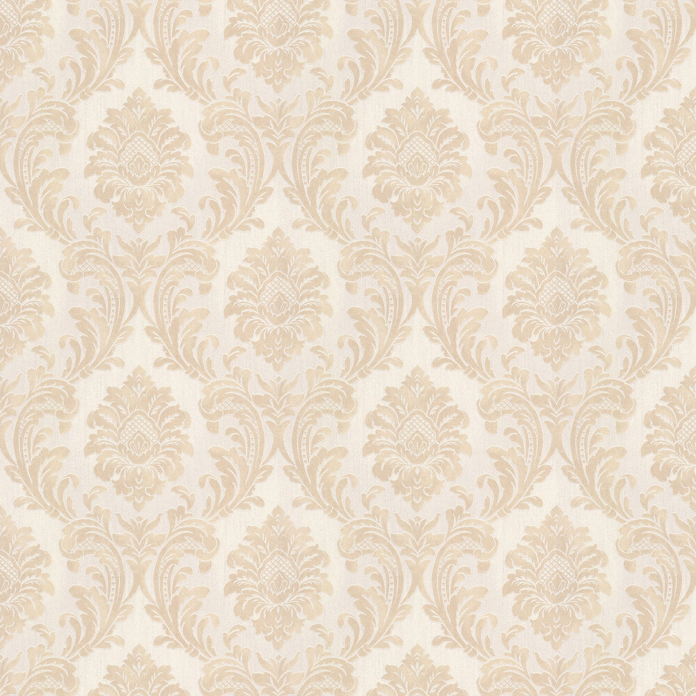 Milano Damask Wallpaper - Beige - by Albany