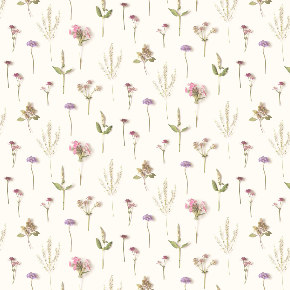 Natural Forest Wallpaper - Pink - by Albany