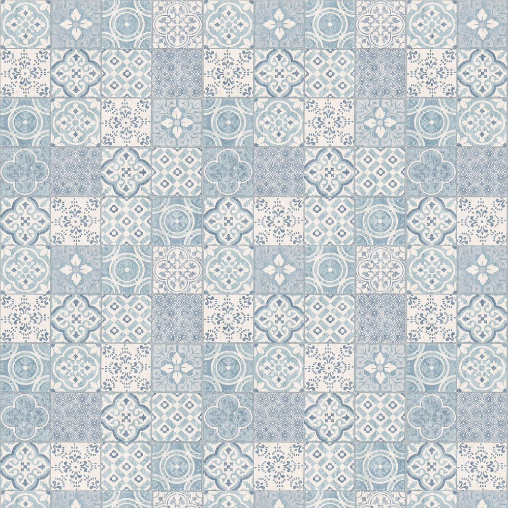 Salinas Tile Wallpaper - Blue - by Albany