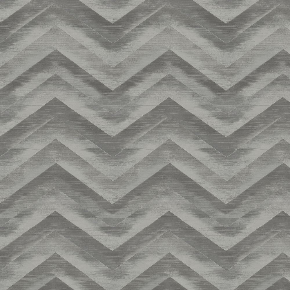 Cascade Wallpaper - Charcoal/ Silver - by Albany