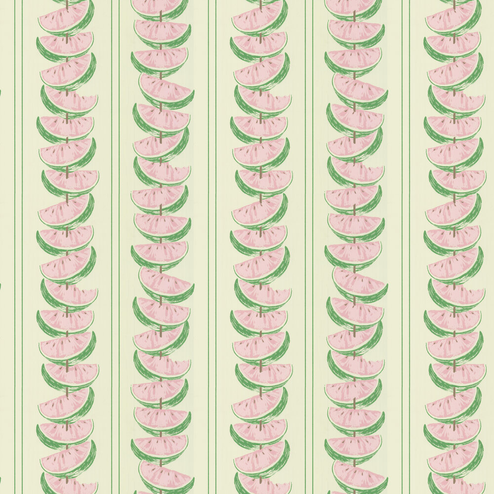 Watermelon Wallpaper - Pink / Green - by Barneby Gates