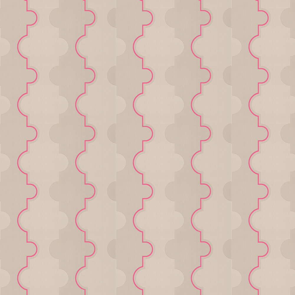Barneby Gates Jigsaw Stripe Pink Wallpaper - Product code: BG1800201