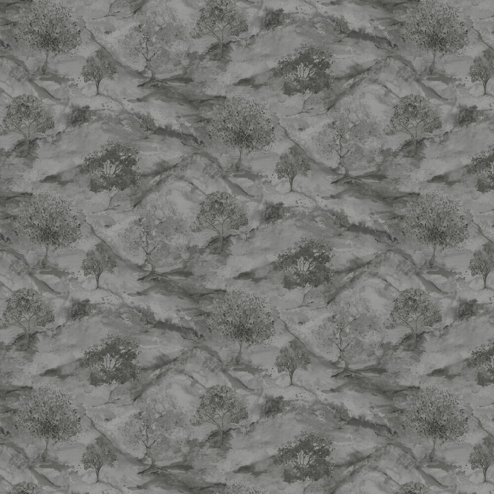 Ascadia Tree Wallpaper - Grey/ Silver - by Albany