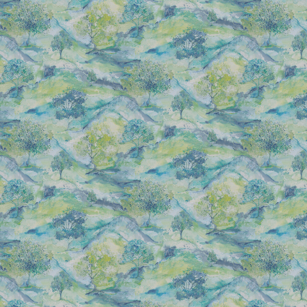 Albany Ascadia Tree Teal Wallpaper - Product code: 35731