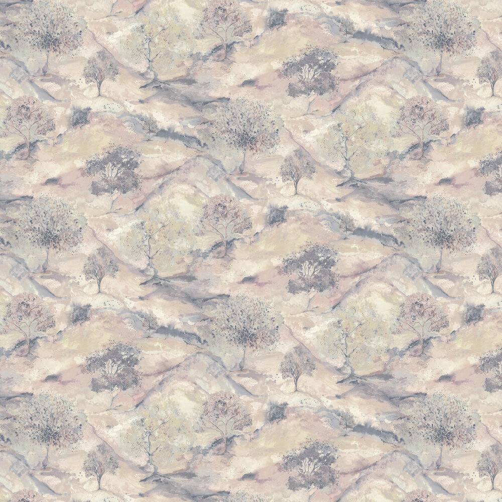 Albany Ascadia Tree Dusky Pink/ Navy Wallpaper - Product code: 35733