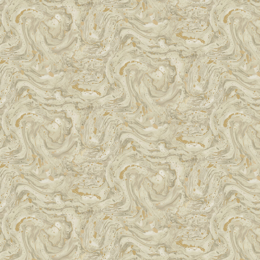 Azurite Wallpaper - Beige/ Gold - by Albany