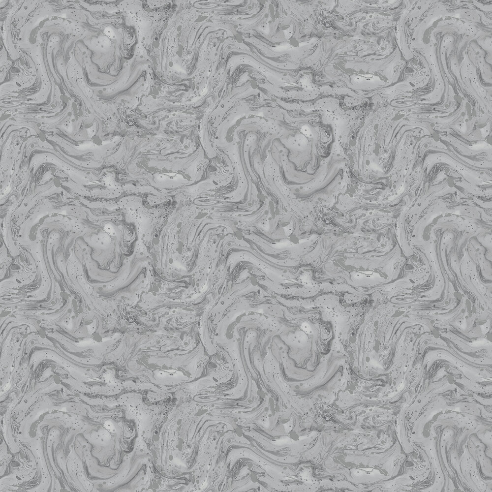 Azurite Wallpaper - Grey/ Silver - by Albany