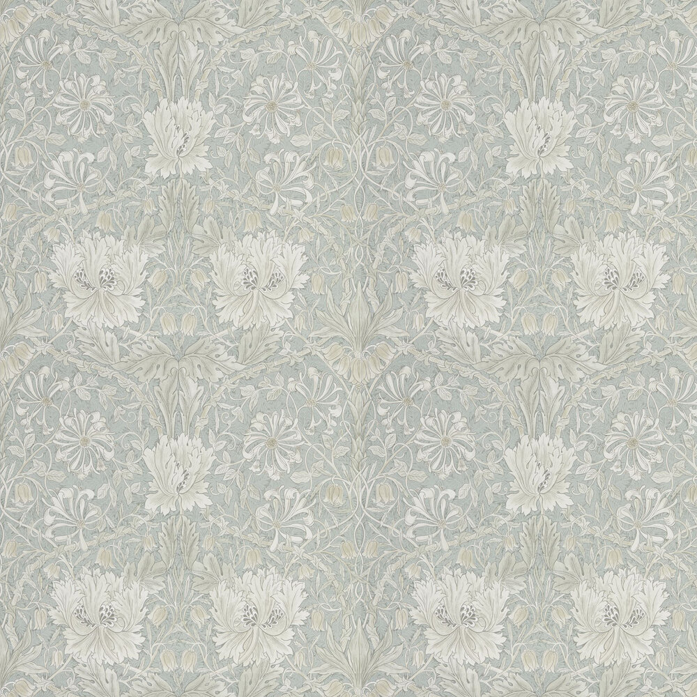 Pure Honeysuckle and Tulip Wallpaper - Grey Blue - by Morris