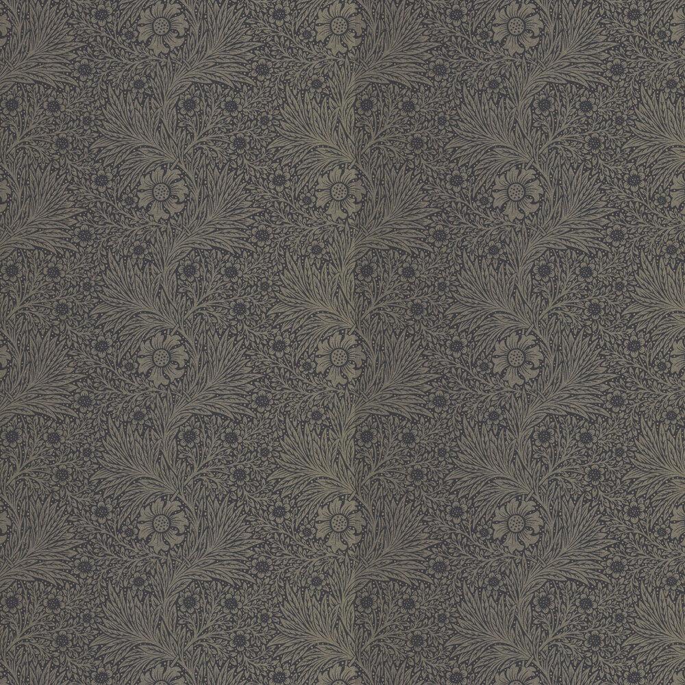 Pure Marigold Wallpaper - Black Ink - by Morris