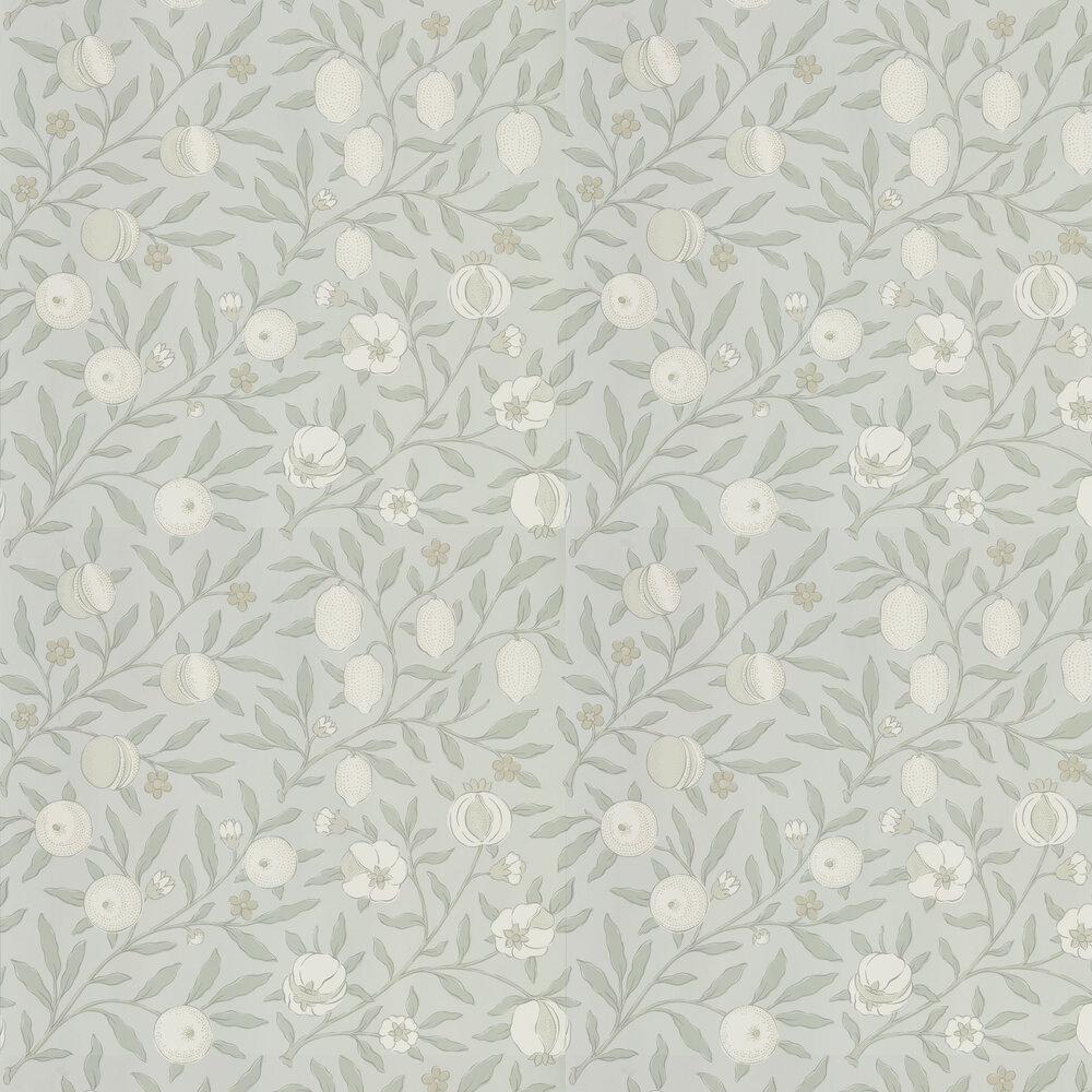 Pure Fruit Wallpaper - Grey Blue - by Morris