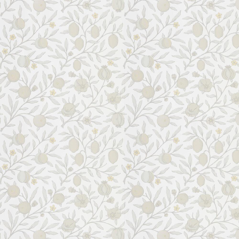 Pure Fruit Wallpaper - Horned Poppy / Grey - by Morris