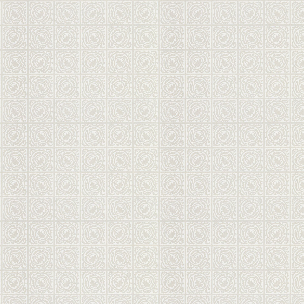Pure Scroll Wallpaper - White Clover - by Morris