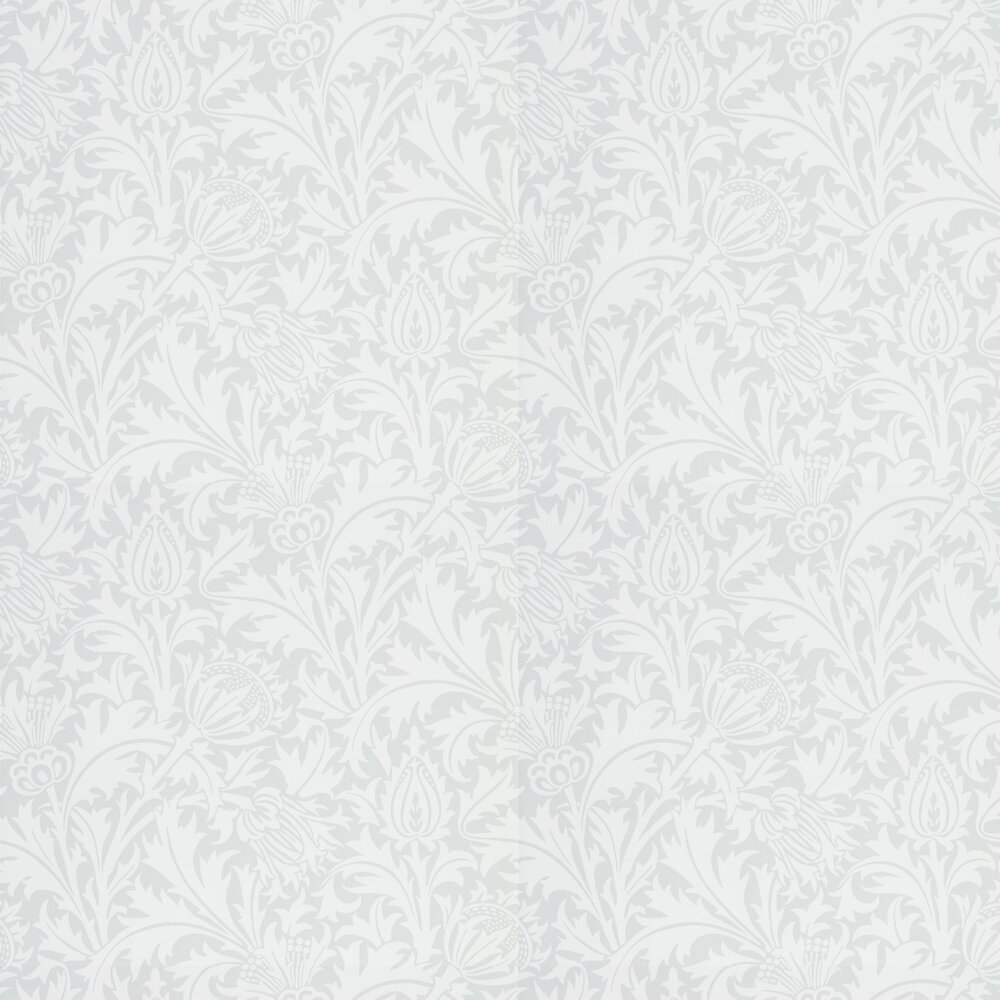 Pure Thistle Wallpaper - Grey Blue - by Morris
