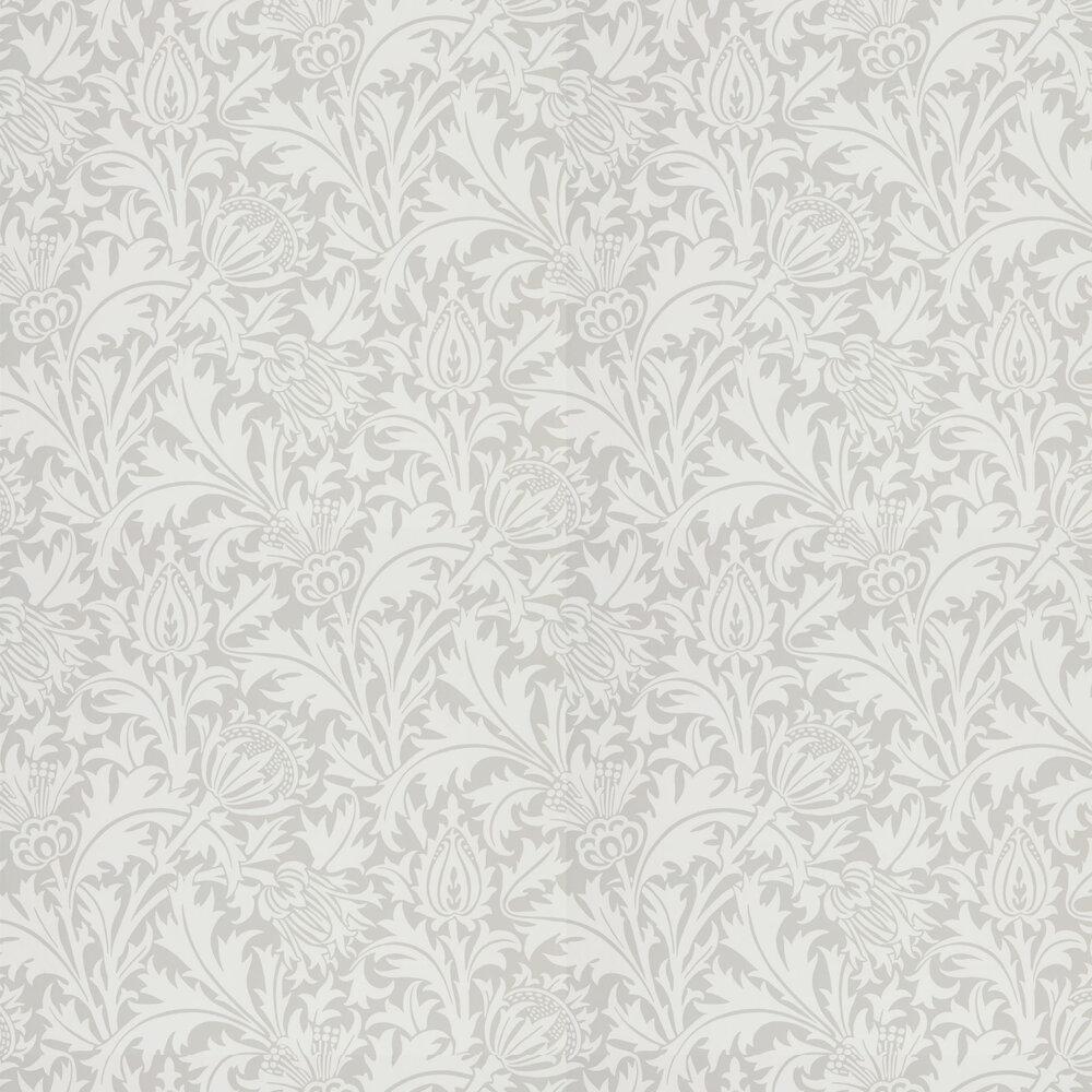 Pure Thistle Wallpaper - Pebble - by Morris