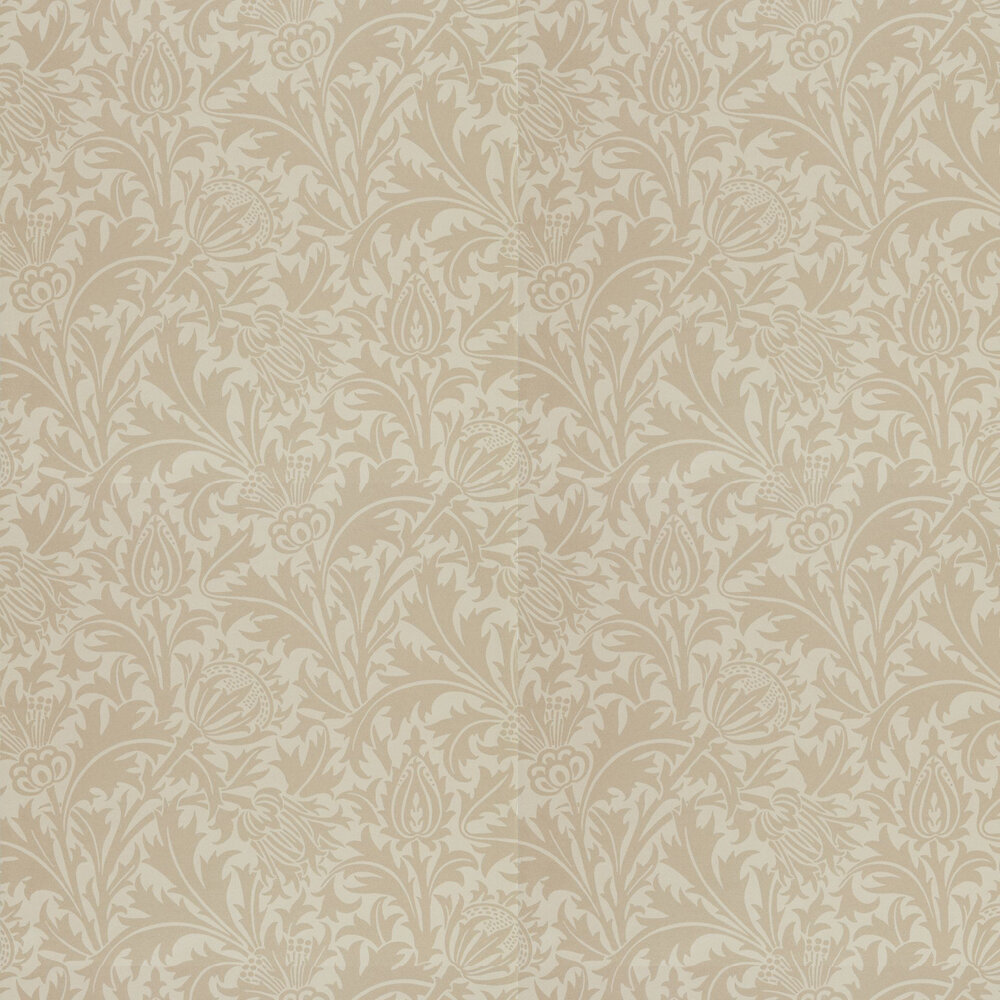 Pure Thistle Wallpaper - Linen - by Morris