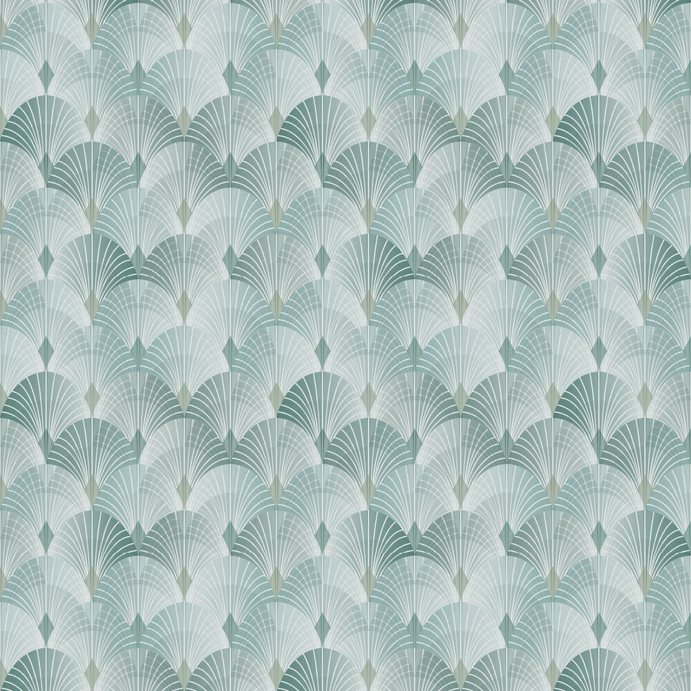 Pigalle Wallpaper - Green - by Engblad & Co