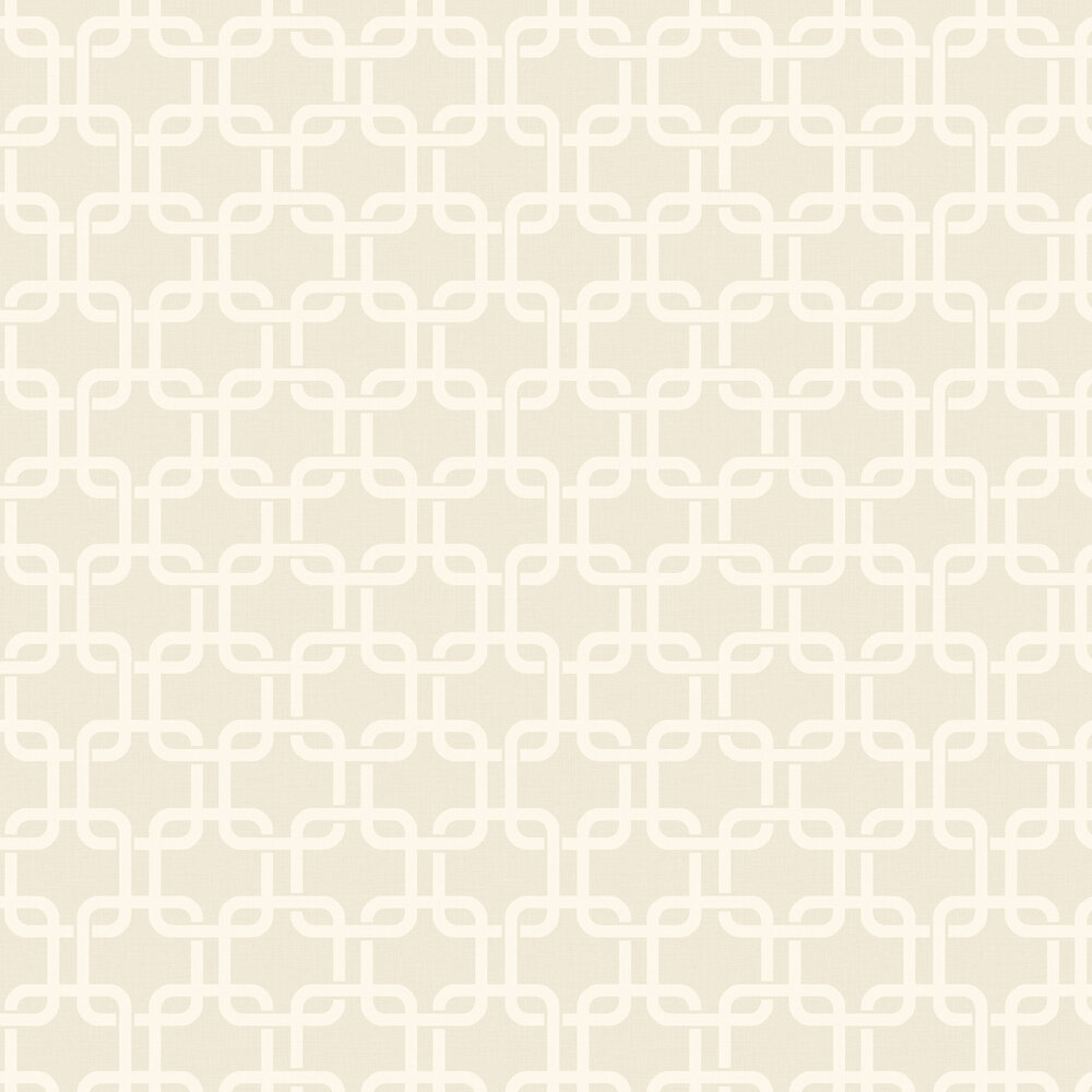 Waldorf Flock Wallpaper - Beige - by Engblad & Co