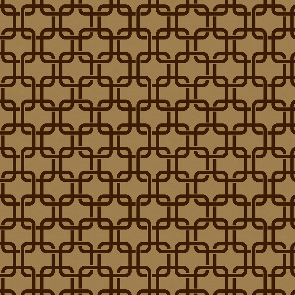 Waldorf Flock Wallpaper - Copper - by Engblad & Co