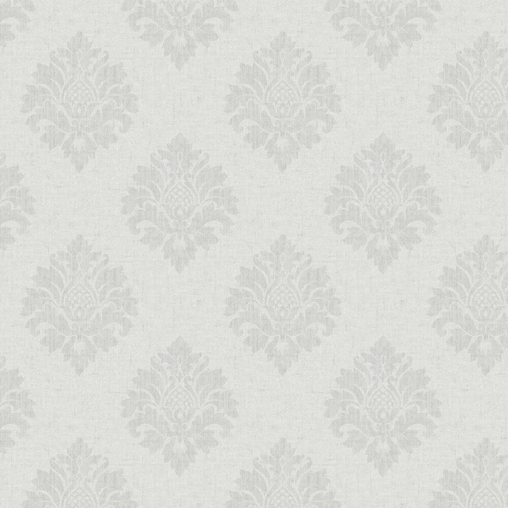 SK Filson Textured Damask Grey Wallpaper - Product code: FI2004