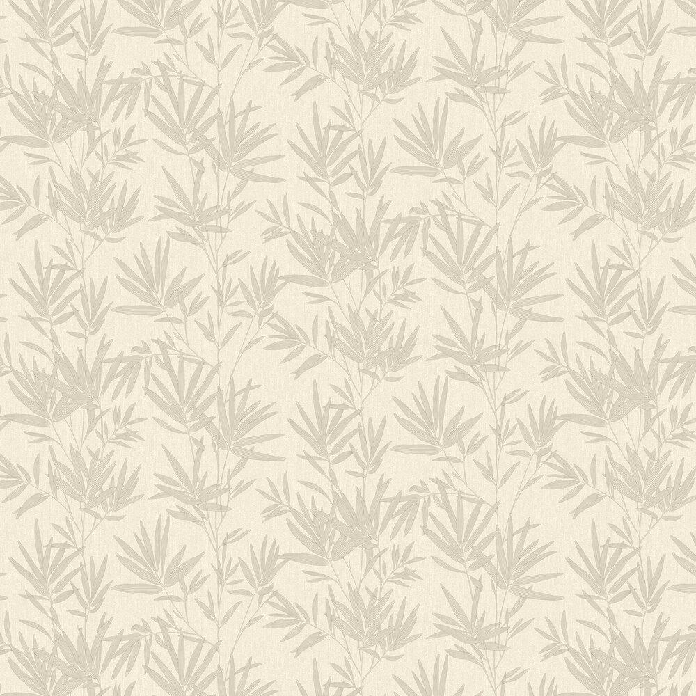 Botanical Leaves Wallpaper - Stone - by SK Filson