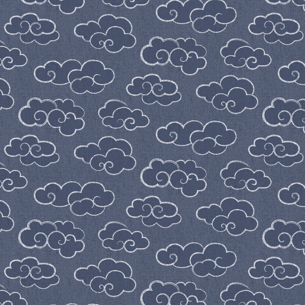 Skylark Wallpaper - Navy - by Albany