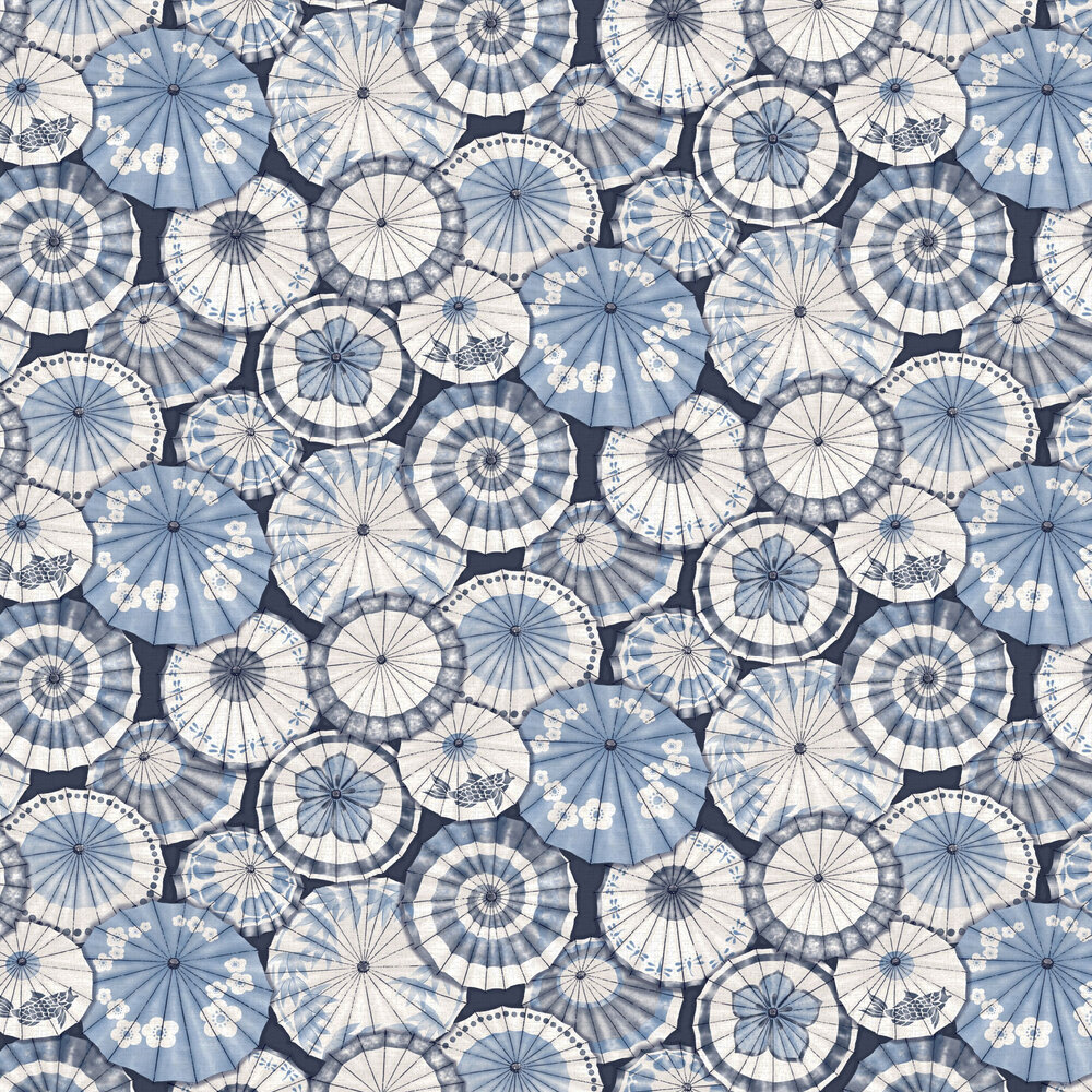 Mikado Wallpaper - Navy - by Albany