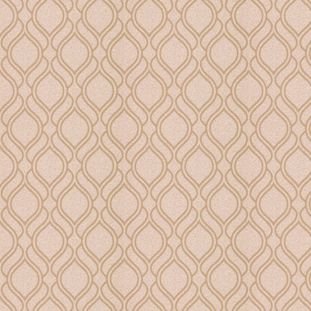 Cork Trellis Wallpaper - Gold - by Albany