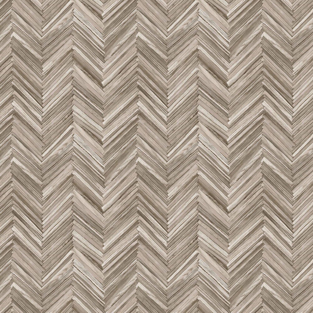 Hygge Wood Wallpaper - Brown - by Albany