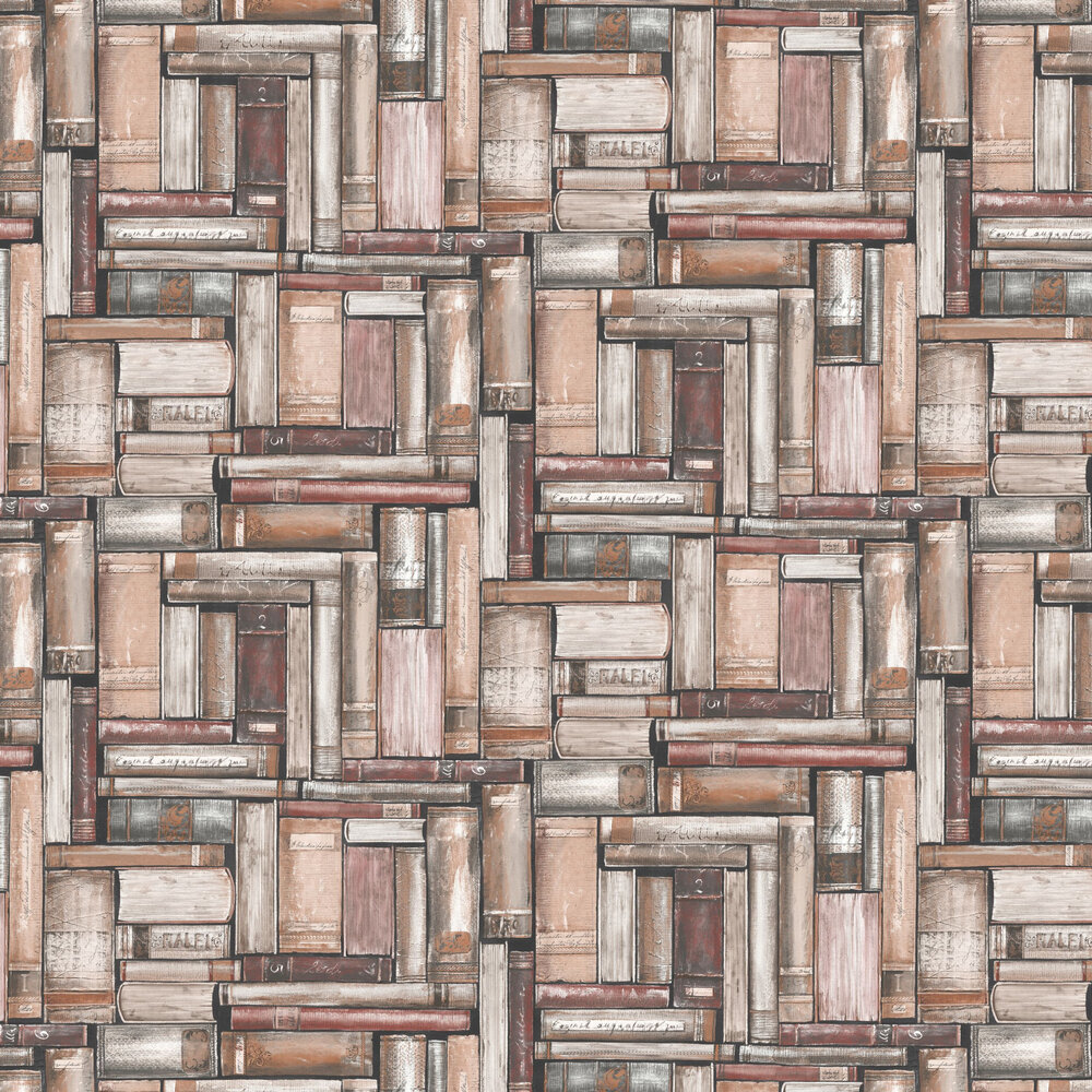 Vintage Library Wallpaper - Brown - by Albany