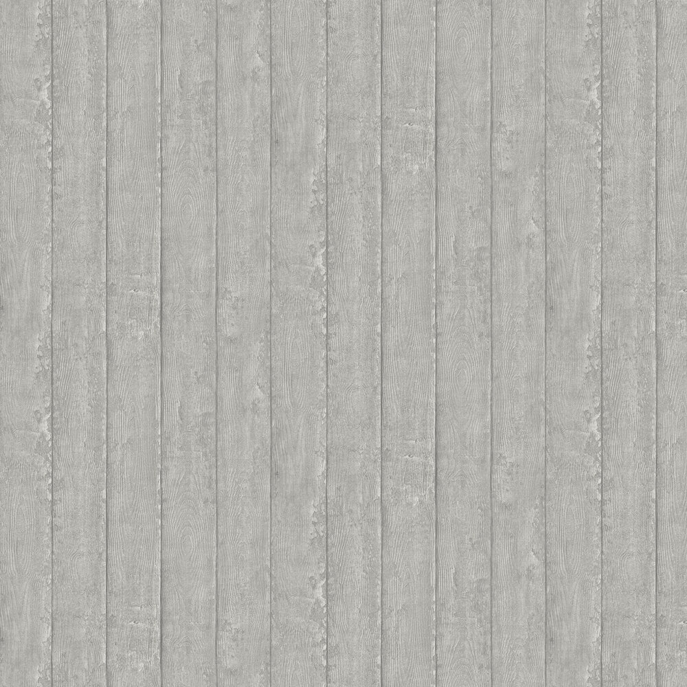 Plank Wallpaper - Grey - by Albany